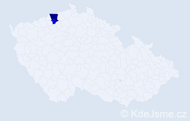 Příjmení: 'Fenyvesi', počet výskytů 6 v celé ČR