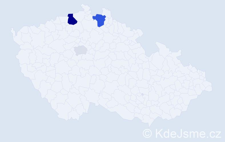 Příjmení: 'Kapitulčinová', počet výskytů 6 v celé ČR