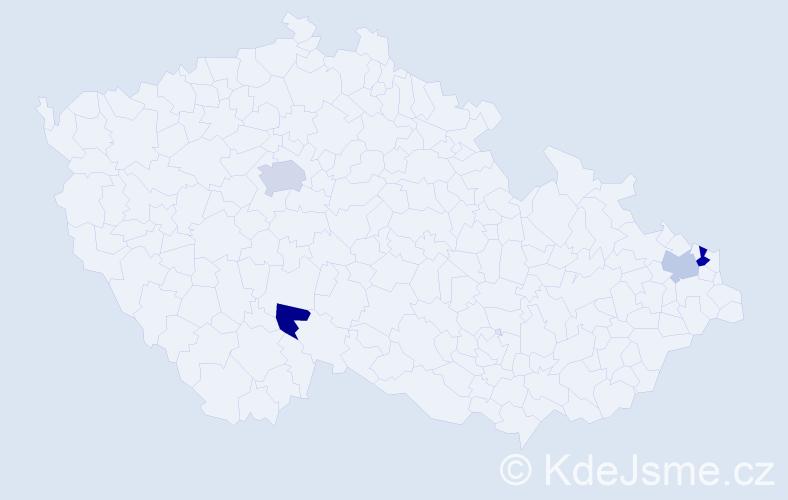 Příjmení: 'Krzywdová', počet výskytů 6 v celé ČR