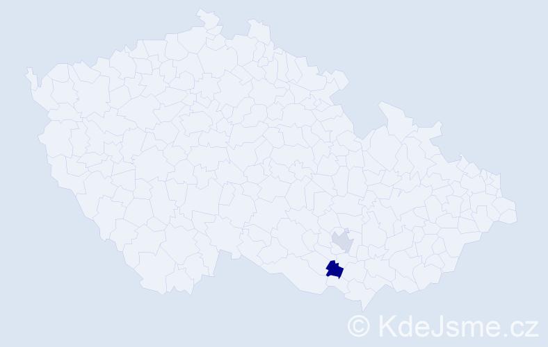 Příjmení: 'Lekkas', počet výskytů 2 v celé ČR