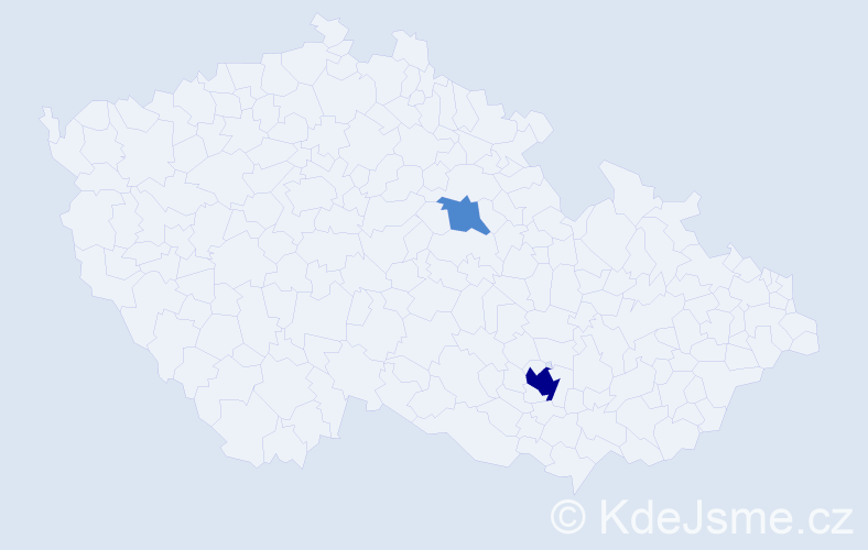 Příjmení: 'Gotfrýdová', počet výskytů 6 v celé ČR