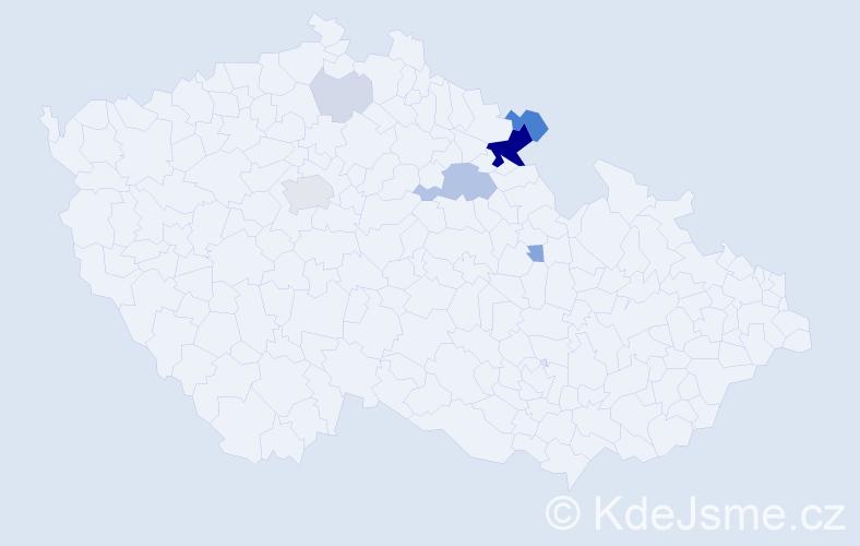 Příjmení: 'Lecnarová', počet výskytů 25 v celé ČR