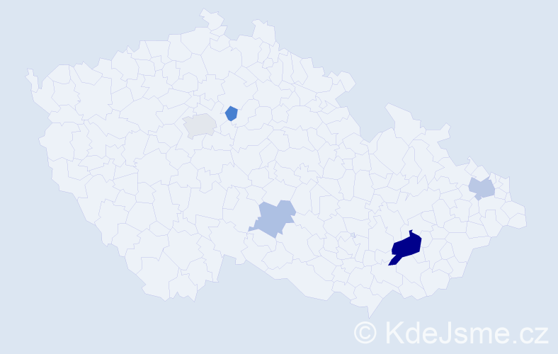 Příjmení: 'Karamonová', počet výskytů 23 v celé ČR