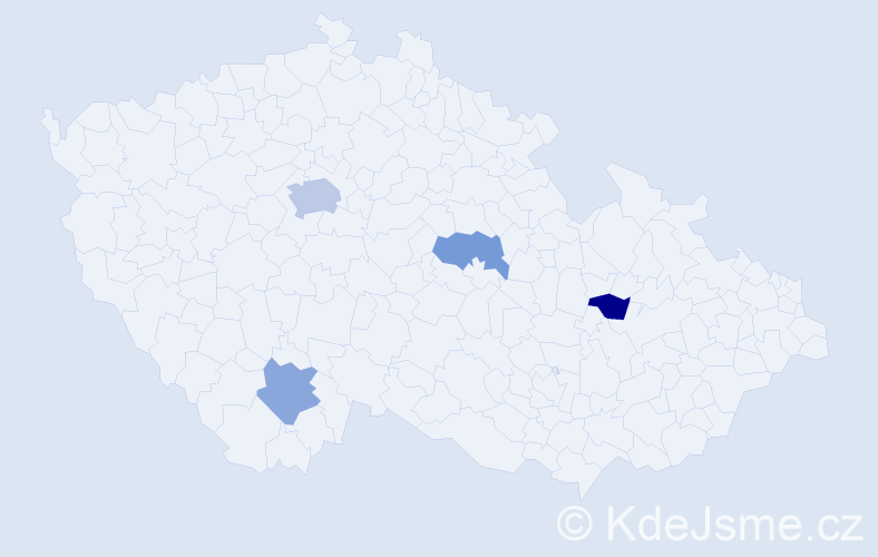 Příjmení: 'Cunninghamová', počet výskytů 6 v celé ČR