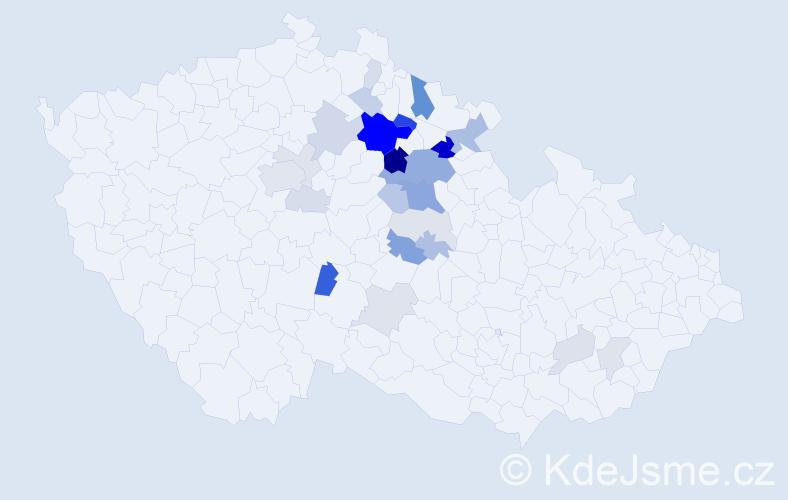Příjmení: 'Lemberk', počet výskytů 73 v celé ČR