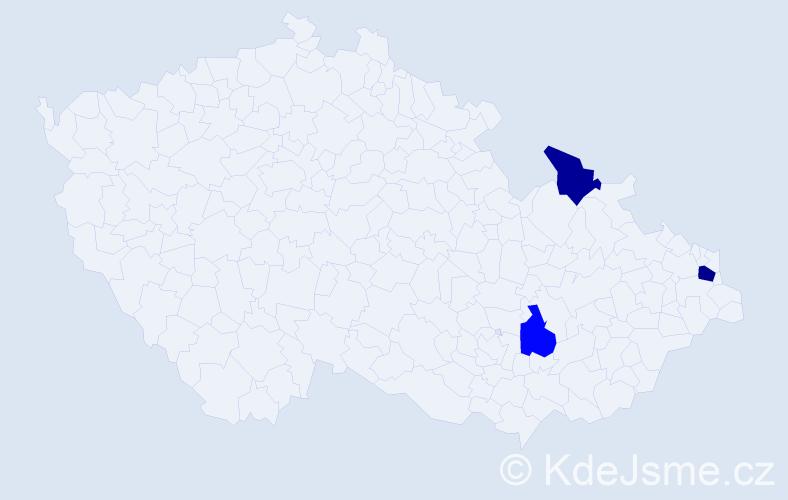 Příjmení: 'Galanis', počet výskytů 4 v celé ČR