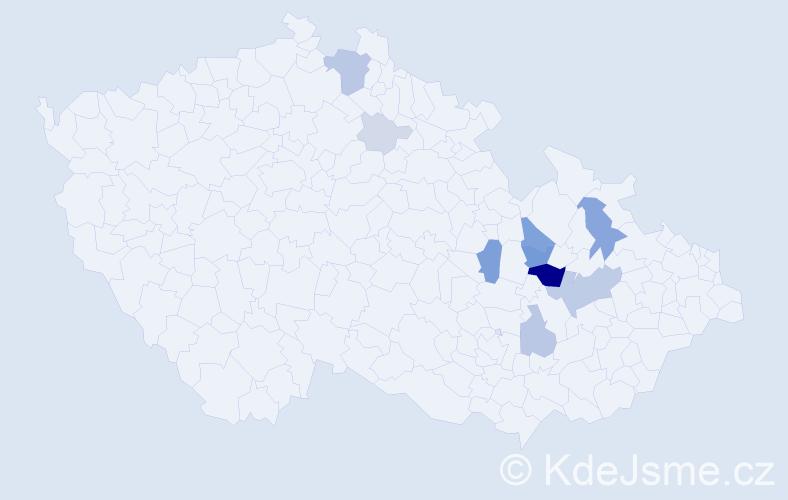 Příjmení: 'Elgnerová', počet výskytů 30 v celé ČR