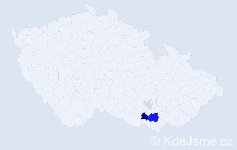 Příjmení: 'Demisch', počet výskytů 4 v celé ČR