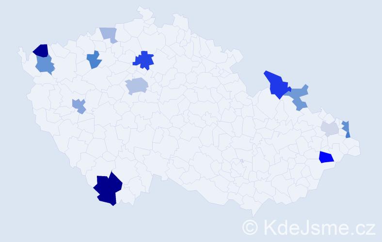 Příjmení: 'Fuska', počet výskytů 27 v celé ČR