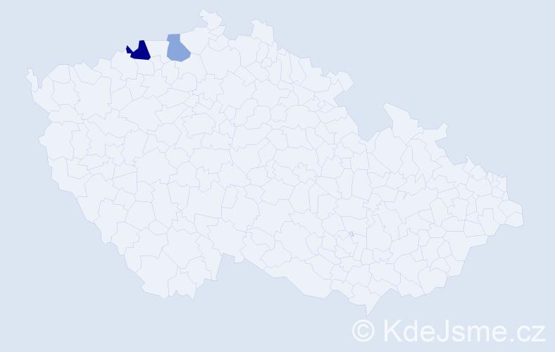 Příjmení: 'Jašontková', počet výskytů 3 v celé ČR