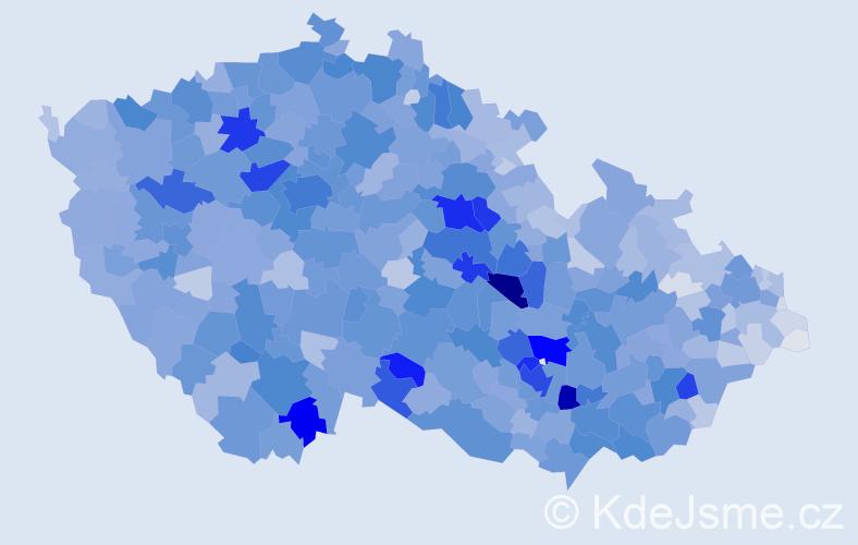 Příjmení: 'Kučerová', počet výskytů 15699 v celé ČR