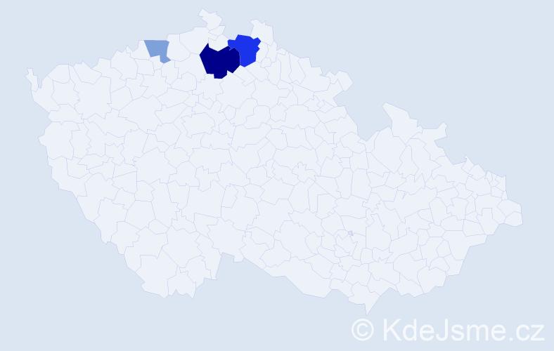 Příjmení: 'Henschel', počet výskytů 7 v celé ČR