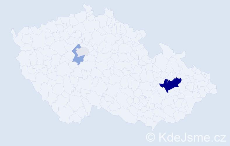 Příjmení: 'Čergeťová', počet výskytů 8 v celé ČR