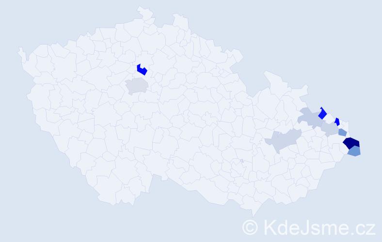 Příjmení: 'Adamik', počet výskytů 27 v celé ČR