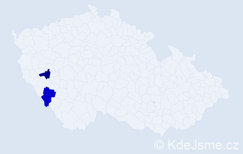 Příjmení: 'Ghitanová', počet výskytů 2 v celé ČR