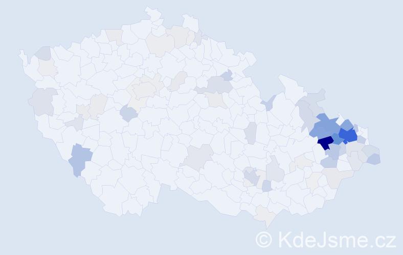 Příjmení: 'Kotala', počet výskytů 353 v celé ČR