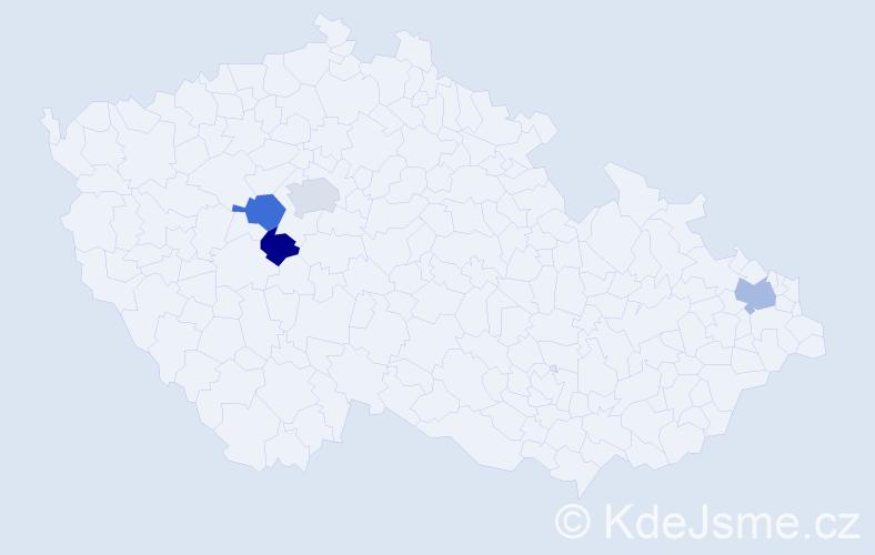 Příjmení: 'Beščecová', počet výskytů 11 v celé ČR