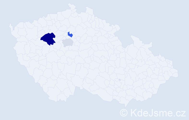 Příjmení: 'Adamčeková', počet výskytů 6 v celé ČR