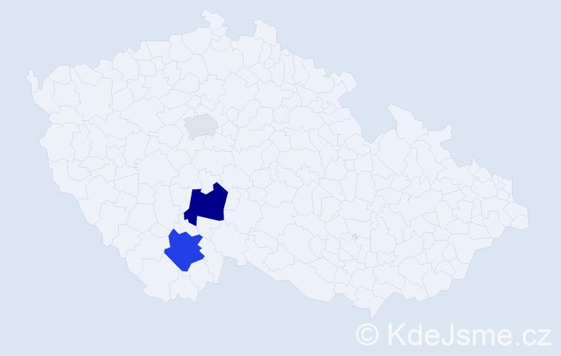 Příjmení: 'Gucko', počet výskytů 7 v celé ČR