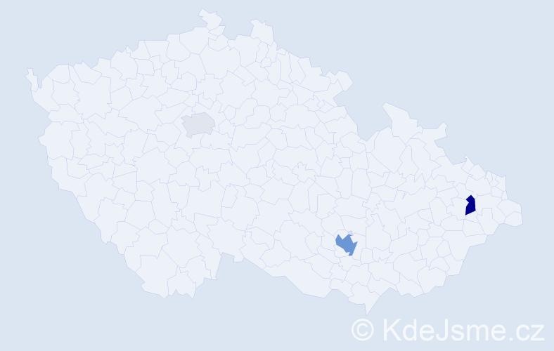 Příjmení: 'Küfferová', počet výskytů 7 v celé ČR
