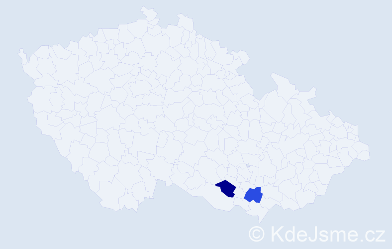Příjmení: 'Formannová', počet výskytů 6 v celé ČR