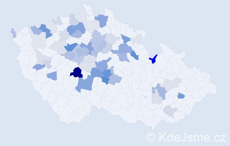 Příjmení: 'Jenčík', počet výskytů 195 v celé ČR