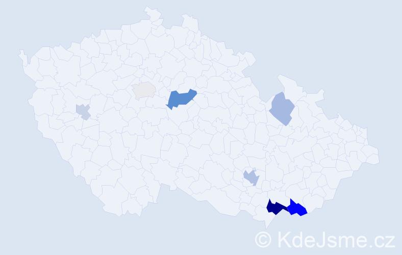 Příjmení: 'Irša', počet výskytů 18 v celé ČR
