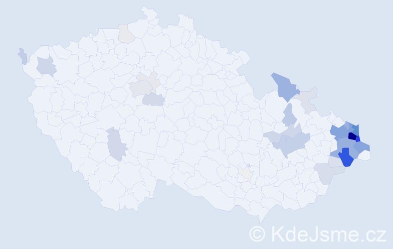 Příjmení: 'Fukala', počet výskytů 176 v celé ČR