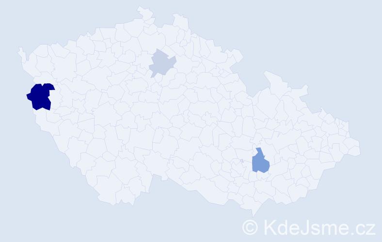 Příjmení: 'Laurinčíková', počet výskytů 8 v celé ČR