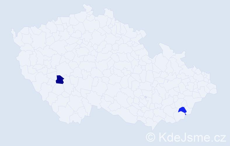 Příjmení: 'Eischmann', počet výskytů 4 v celé ČR