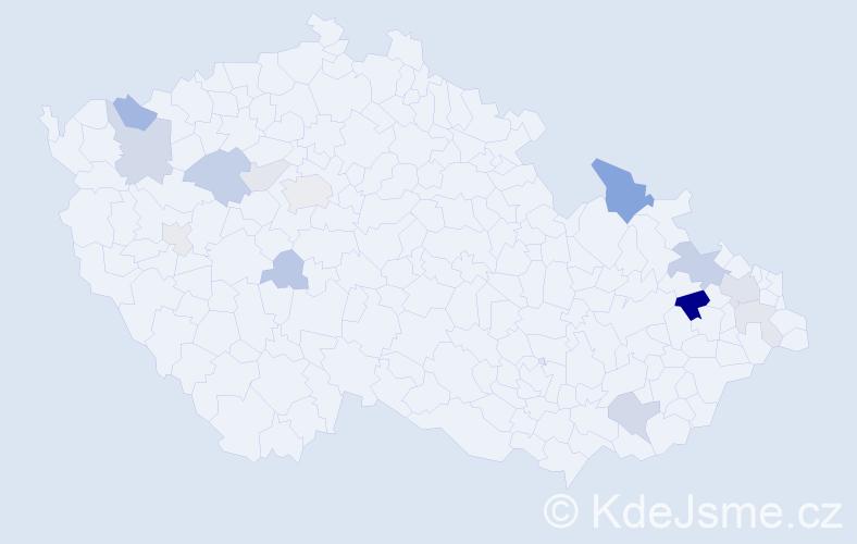 Příjmení: 'Erteltová', počet výskytů 32 v celé ČR