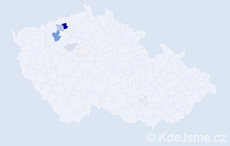 Příjmení: 'Hänel', počet výskytů 12 v celé ČR