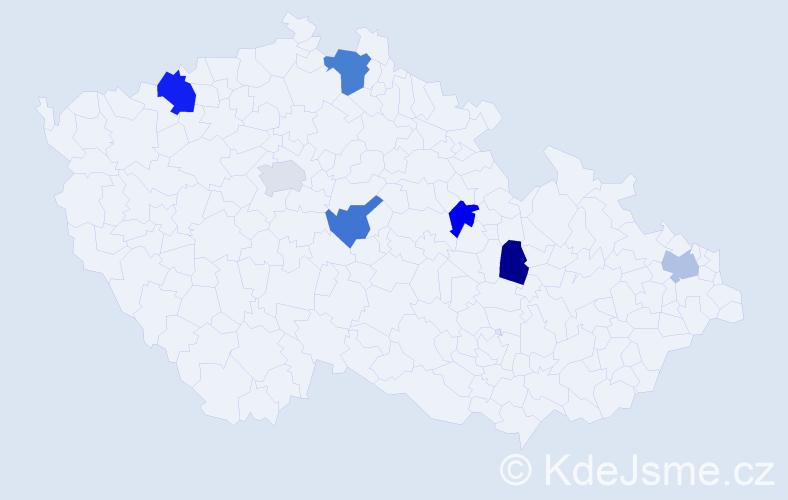 Příjmení: 'Jassová', počet výskytů 9 v celé ČR