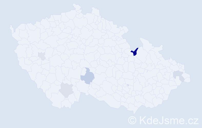 Příjmení: 'Bakaráč', počet výskytů 6 v celé ČR