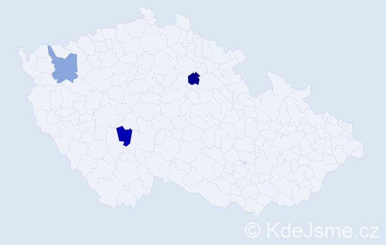 Příjmení: 'Árendášová', počet výskytů 6 v celé ČR