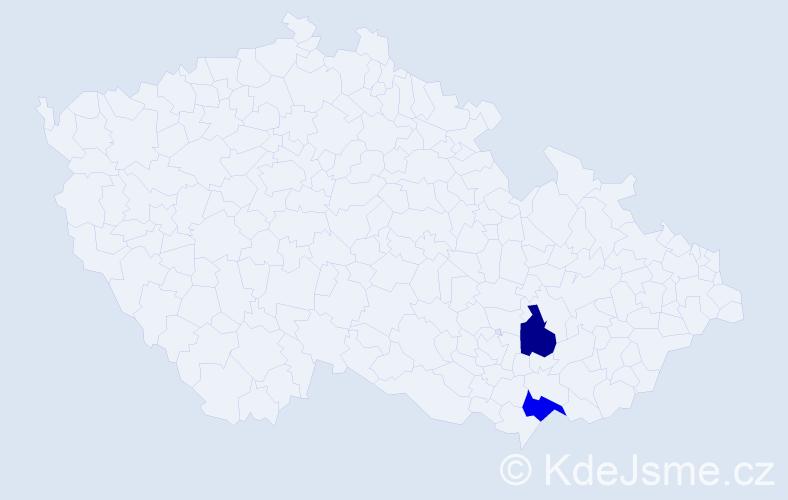 Příjmení: 'Lopuch', počet výskytů 2 v celé ČR