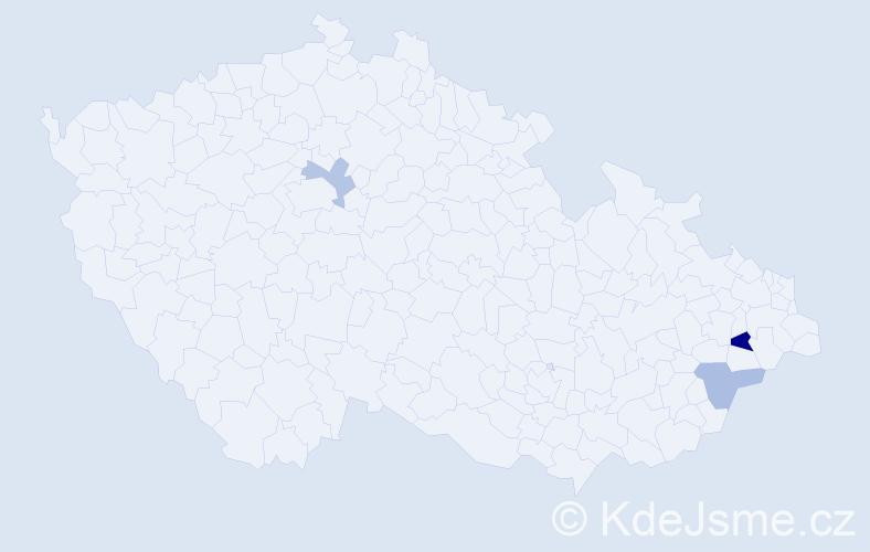 Příjmení: 'Ištvánechová', počet výskytů 4 v celé ČR