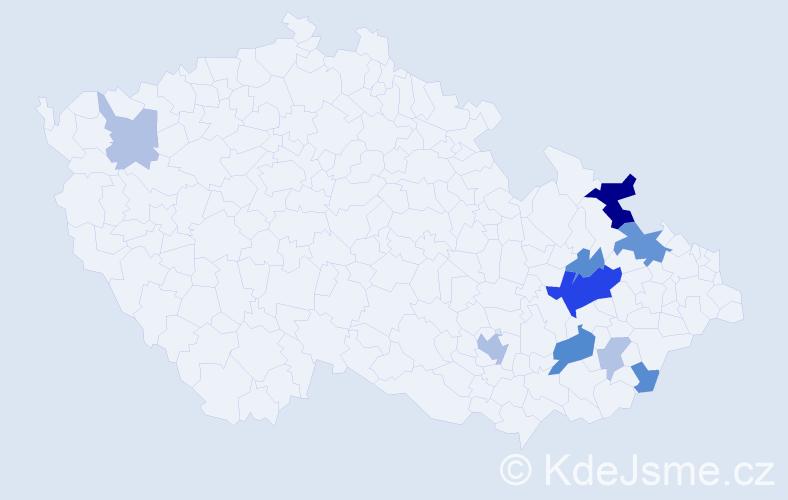 Příjmení: 'Bata', počet výskytů 24 v celé ČR