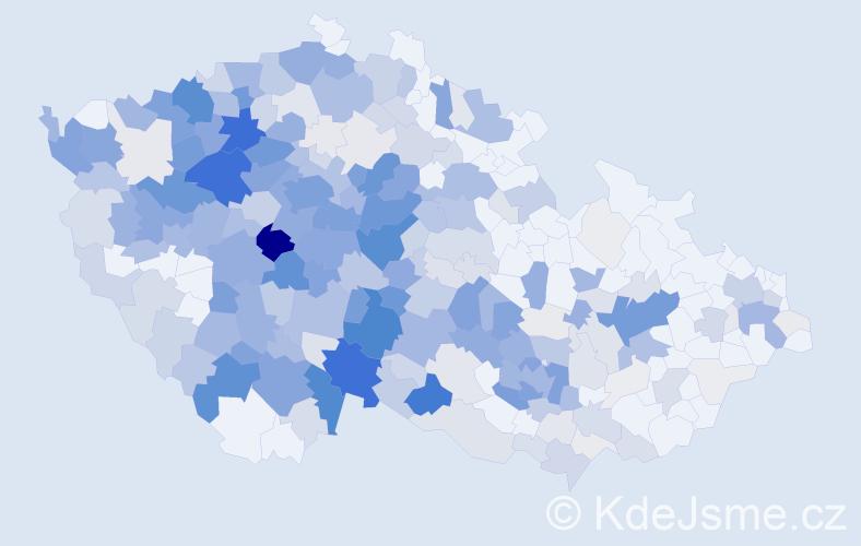 Příjmení: 'Hrbková', počet výskytů 1228 v celé ČR