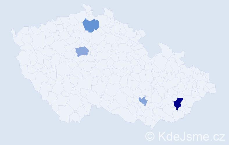 Příjmení: 'Banič', počet výskytů 11 v celé ČR