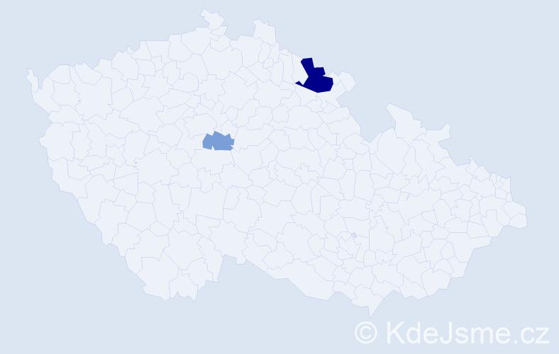 Příjmení: 'Felker', počet výskytů 10 v celé ČR