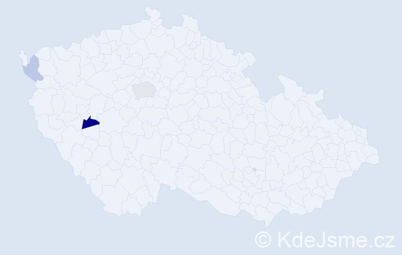 Příjmení: 'Berezkin', počet výskytů 6 v celé ČR