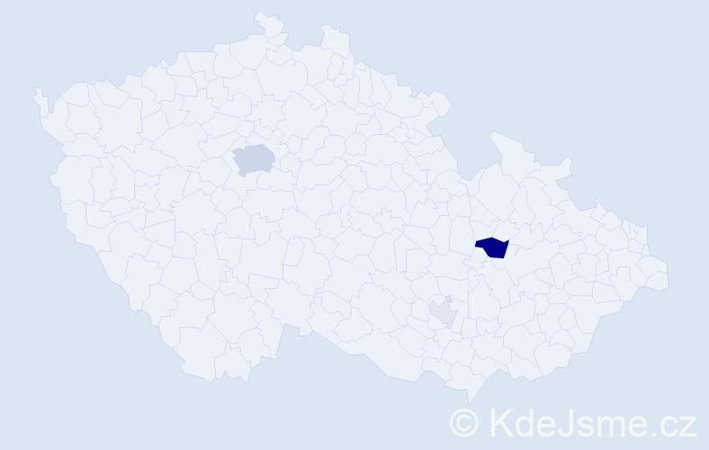 Příjmení: 'Erlec', počet výskytů 10 v celé ČR