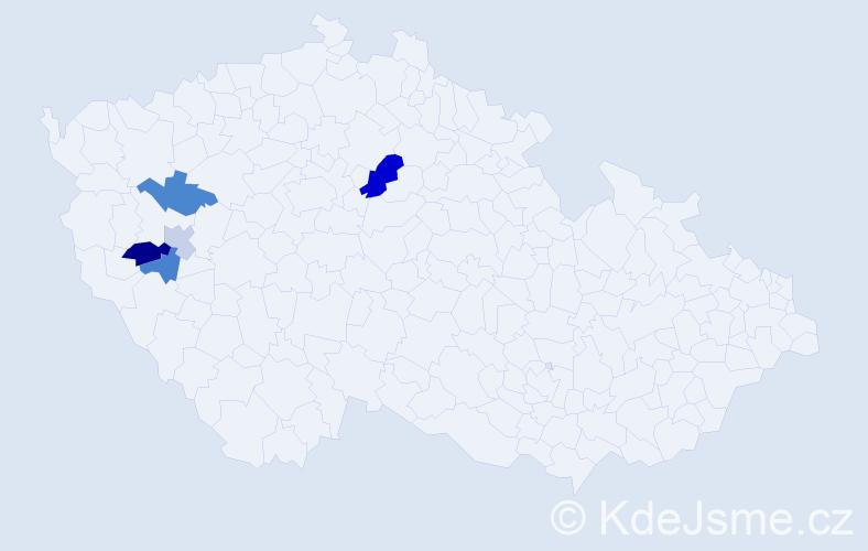 Příjmení: 'Kondor', počet výskytů 8 v celé ČR