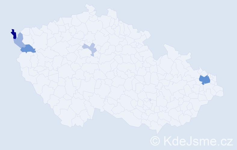Příjmení: 'Kaim', počet výskytů 14 v celé ČR