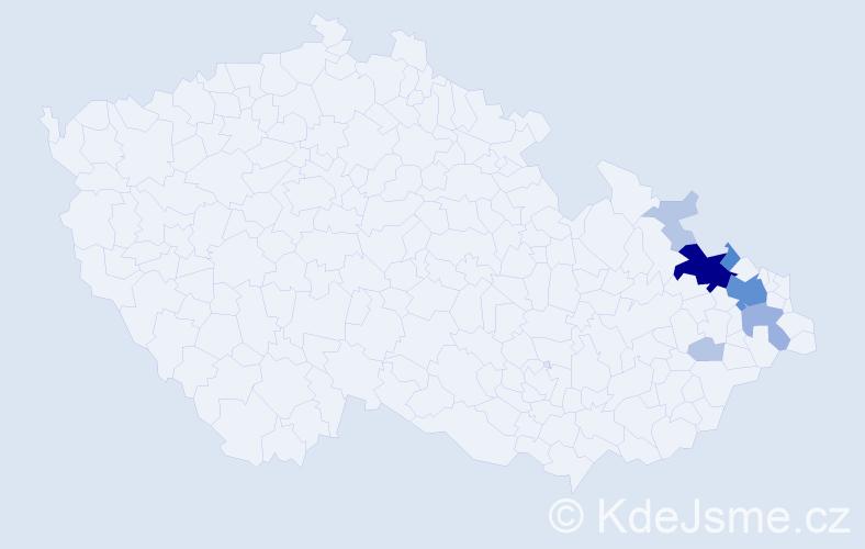 Příjmení: 'Curylo', počet výskytů 39 v celé ČR