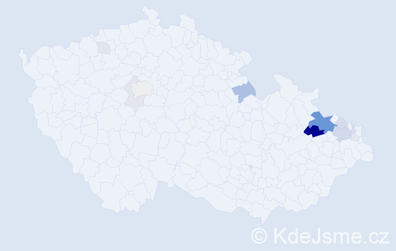 Příjmení: 'Fitzek', počet výskytů 34 v celé ČR