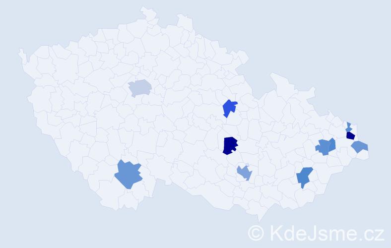Příjmení: 'Feyrer', počet výskytů 20 v celé ČR
