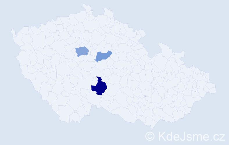 Příjmení: 'Dorošenko', počet výskytů 10 v celé ČR
