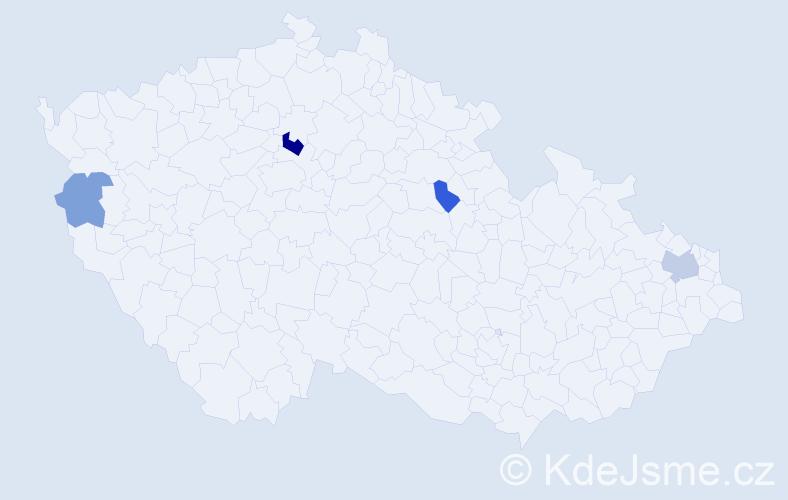 Příjmení: 'Harkotová', počet výskytů 7 v celé ČR